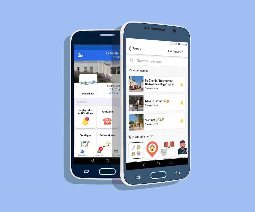 Les commerces et les services de l'application mobile IntraMuros